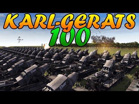 Men of War Assault Squad 2 - 100 600MM KARL-GERÄT vs SOVIET ASSAULT - Editor Scenario #51 |