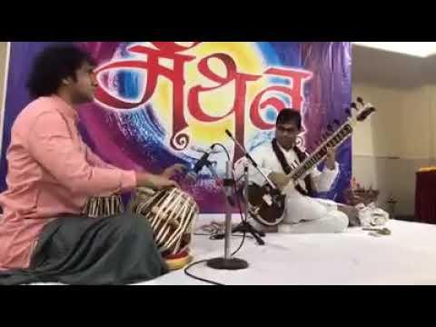 Purbayan chatterjee on sitar and ojas adhiya playing amazingtabla || tabal and sitar jugalbandi ||