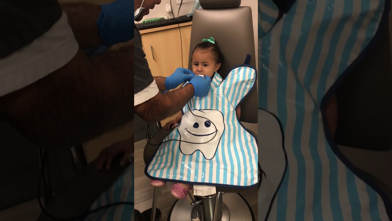 First visit to the dentist for a 2 year old