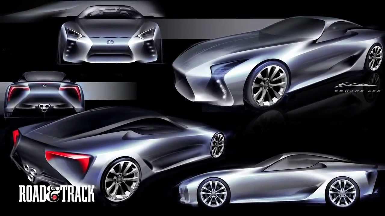 behind-the-scenes  designing the lexus lf-lc concept car