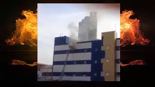 Пожар в детском ТРЦ Персей 04 04 2018 Москва