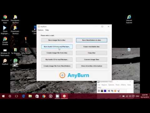 Windows 10 Free CD DVD burn software Anyburn also extract MP3 from audio CD