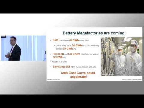 The Energy Storage Disruption - End Of Peakers by 2020 and Baseload by 2030