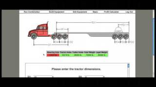Truck driving axle load software