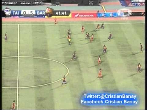 Tailandia 1  Barcelona 7 Amistoso Internacional 2013 Los goles (7/8/2013)