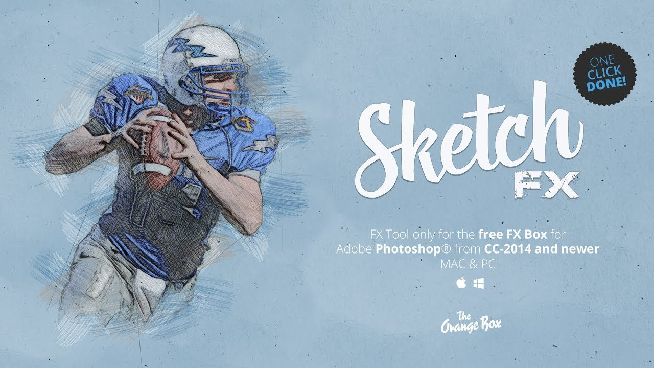Sketch FX - photo effect plugin for Photoshop from CC-2014 and newer