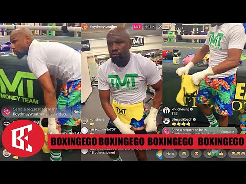 HE'S BAAAACK!  LEAKED MAYWEATHER SECRET GYM TRAINING LATE NIGHT SESSIONS