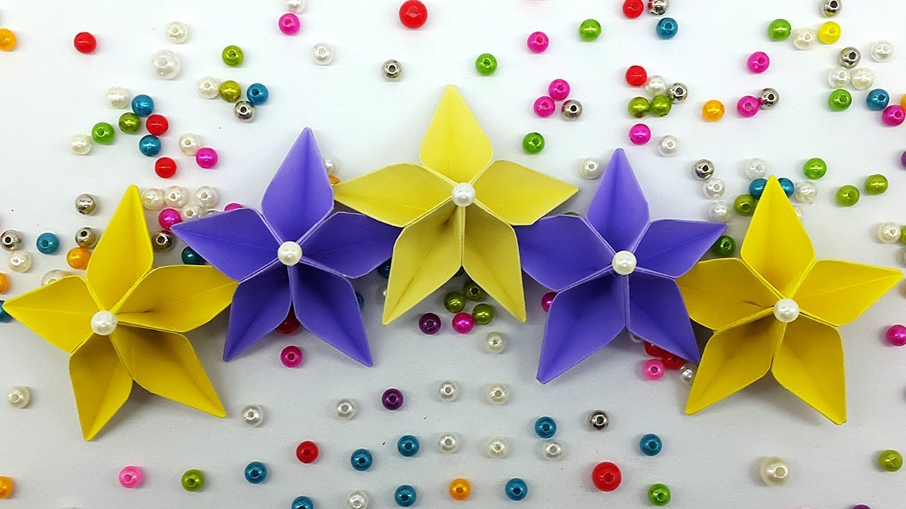 Easy Paper Flower Making Tutorial Origami Flowers Diy Handmade
