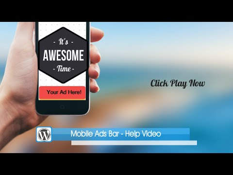 Mobile Ad Bar WordPress Plugin Help