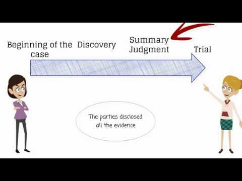 What Is Summary Judgment?