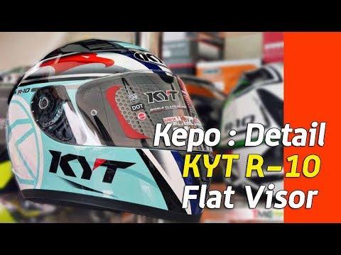 VLOG : Kepo-in Detail helm KYT R10 dengan Flat Visor