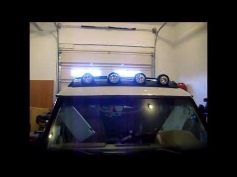 Land Rover Discovery 300tdi With R380 Jeep Liberty Renegade Roof Light Bar Install Installation