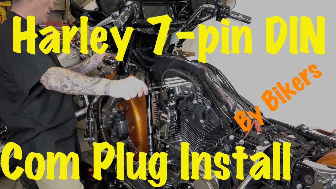 install harley 7 pin din music communications kit or plug diy 2014 newer youtube [ 1280 x 720 Pixel ]