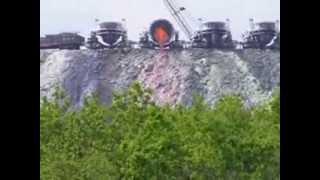 Dumping molten slag at Nikopolj ferroalloys plant
