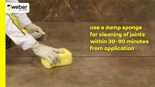 weberepox easy  - An epoxy grout and adhesive