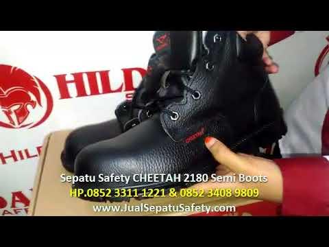HP. 0852 3408 9809, Jual Sepatu Safety Cheetah 2180H Semi Boots Murah