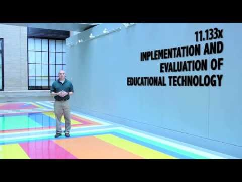 Implementation and Evaluation of Educational Technology | MITx on edX | Course About Video
