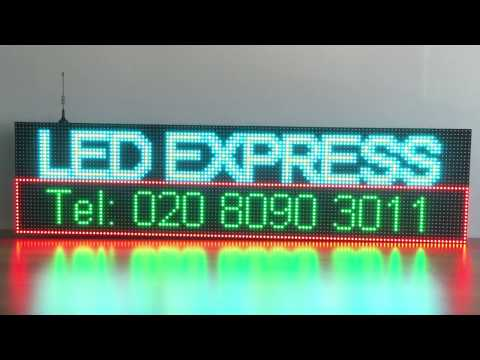 OUTDOOR FULL COLOR PROGRAMMABLE LED SIGN - WiFi & IP65