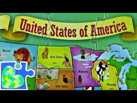 Us Map For Kids Usa 50 States For Children Mapa Del Estados Unidos