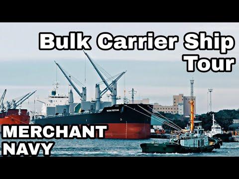 BULK CARRIER SHIP TOUR | LIFE ON BULK CARRIER - MERCHANT NAVY | LIFE AT SEA