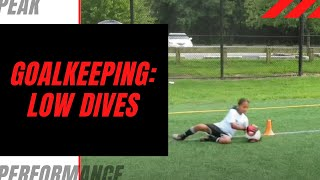 Goalkeeper Training: Learning How to Step & Dive Forward for a Low Dive