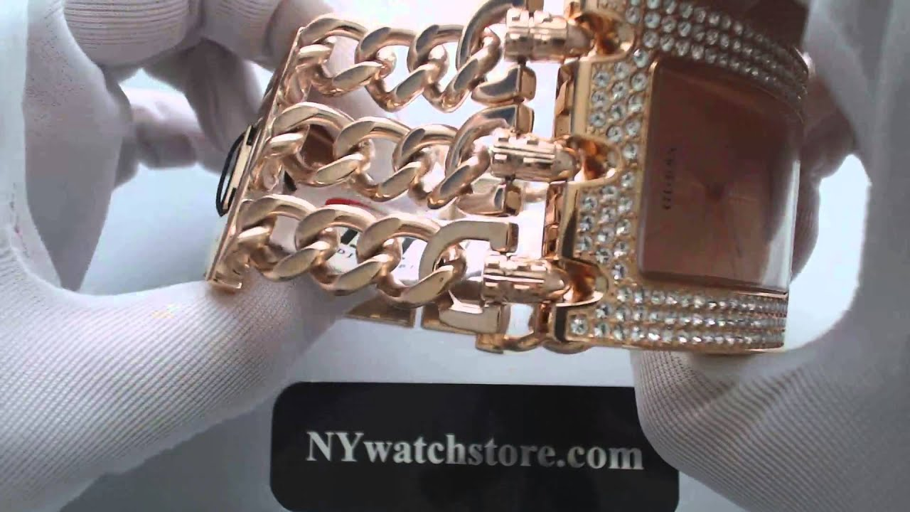 p wid gold main chain tone and silver link rose watches watch women