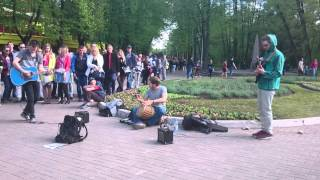 Уличные музыканты круто исполнили Daft Punk - Get Lucky   Street musicians [1]
