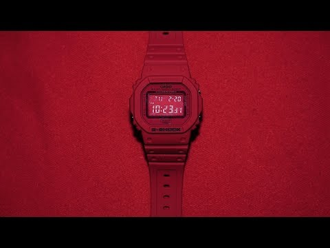 GShock 35th Anniversary DW5635C4JR Red Out series watch unboxing & review