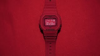 G-Shock 35th Anniversary DW-5635C-4JR Red Out series watch unboxing & review