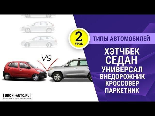 Урок 2 - типы автомобилей, хэтчбек, седан, универсал, типы кузова, внедорожник, кроссовер, паркетник