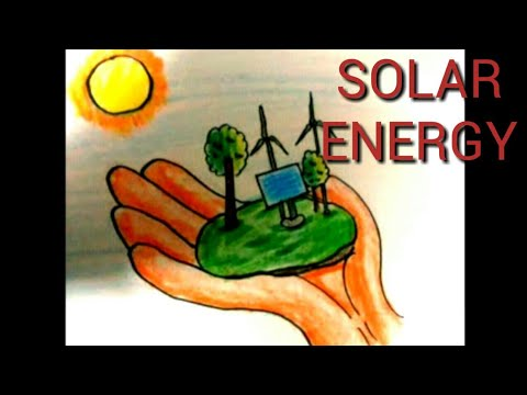 Drawing On Solar Energy Save Electricity Save Energy