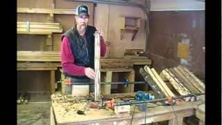 How-to Peel Logs To Make Log Furniture