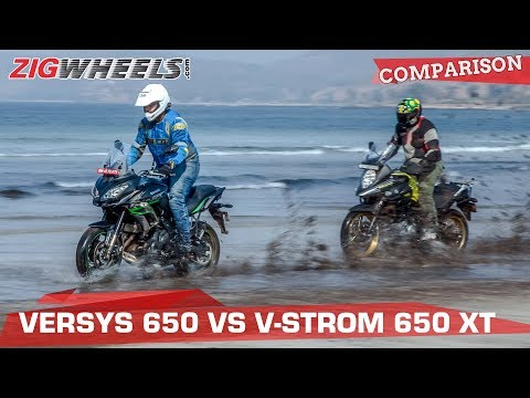 Suzuki V-Strom 650 XT vs Kawasaki Versys 650 | Best ADV Bike Under Rs 10 lakh? | ZigWheels.com