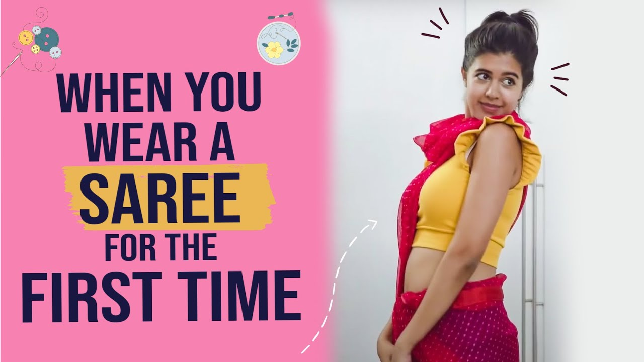 When You Wear Your FIRST SAREE *Teacher's Day Edition* | Sejal Kumar