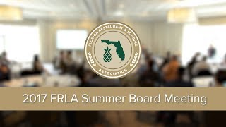 2017 Summer Board Meeting