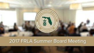 2017 Summer Board Meeting