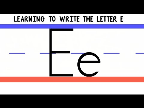 Write the Letter E - ABC Writing for Kids - Alphabet Handwriting by 123ABCtv