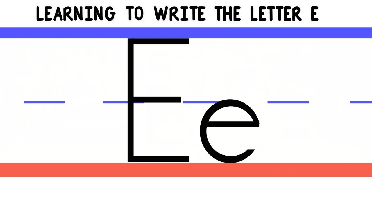 Write the letter e abc writing for kids alphabet handwriting by write the letter e abc writing for kids alphabet handwriting by 123abctv thecheapjerseys Image collections