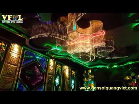Đèn chùm sợi quang Karaoke F5 Plus