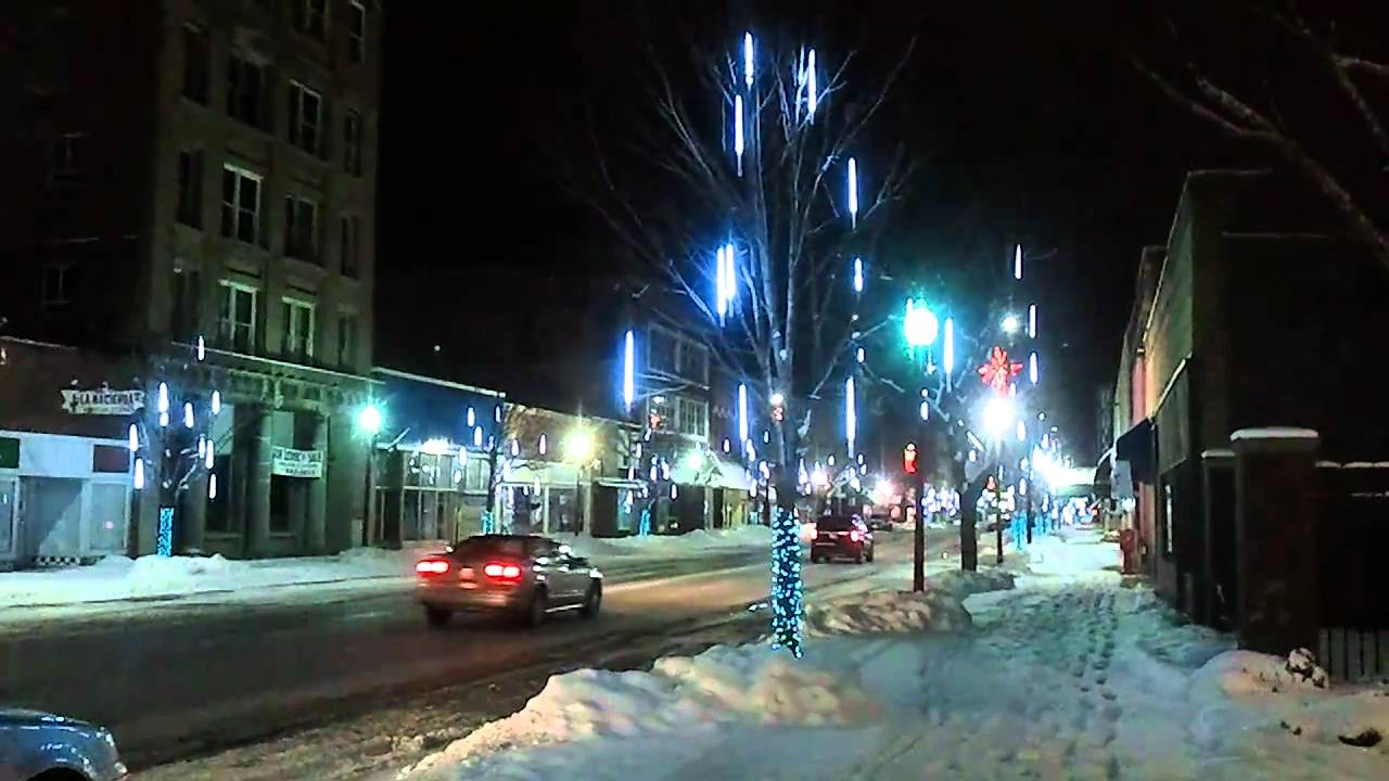 Downtown danville christmas lights youtube for Wrights motors north danville il