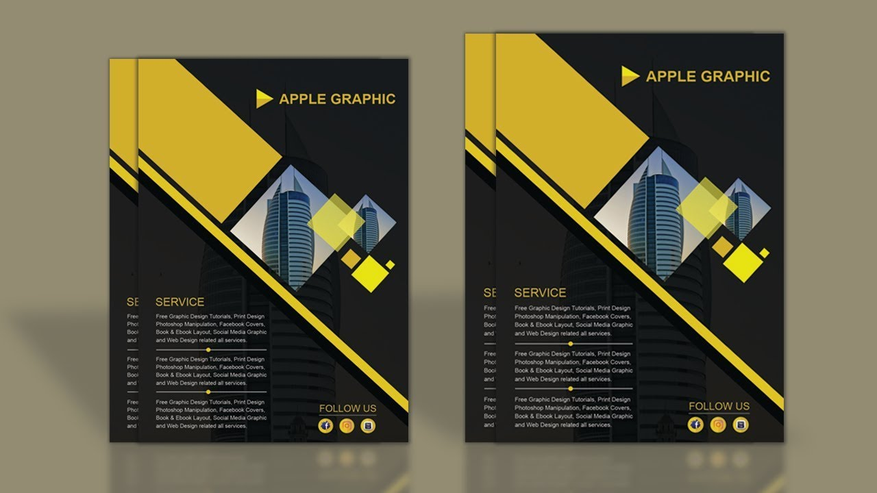 How to design company profile template photoshop tutorial youtube how to design company profile template photoshop tutorial accmission
