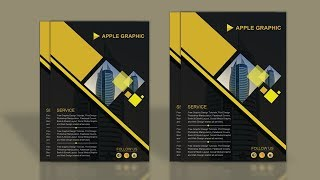 How To Design Company Profile Template - Photoshop Tutorial