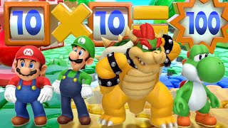 Super Mario Party MiniGames - Mario Vs Bowser Vs Luigi Vs Yoshi (Master Cpu)