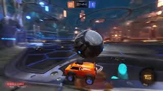 Rocket League, One of my best saves!!