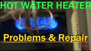 Repairing An Older 2002 Gas Hot Water Heater Where The Burner Starts Going Out