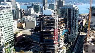 Deloitte Summit - 400 West Georgia Promo August 2020- Highrise Structural Steel Installation.