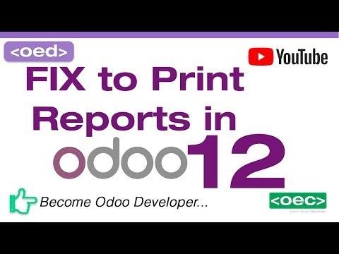 How To Fix Print Report Error Code -8 Wkhtmltopdf In Odoo 12 Ubuntu 18.04 LTS Desktop