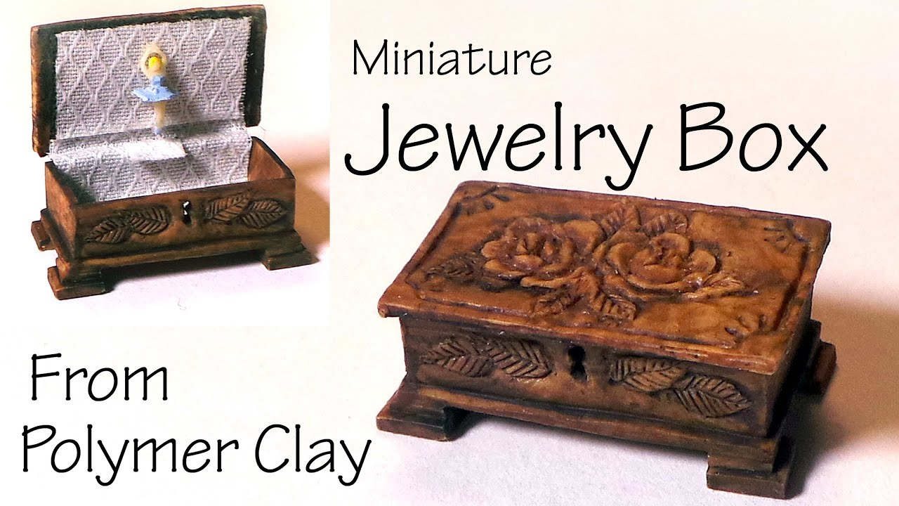 Miniature JewelryMusic Box Polymer Clay Tutorial YouTube