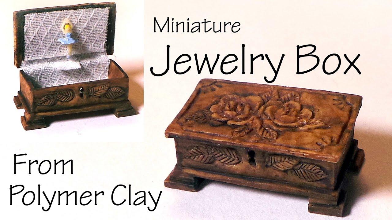 Miniature JewelryMusic Box Polymer Clay Tutorial YouTube