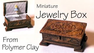 Miniature Jewelry/Music Box - Polymer Clay Tutorial